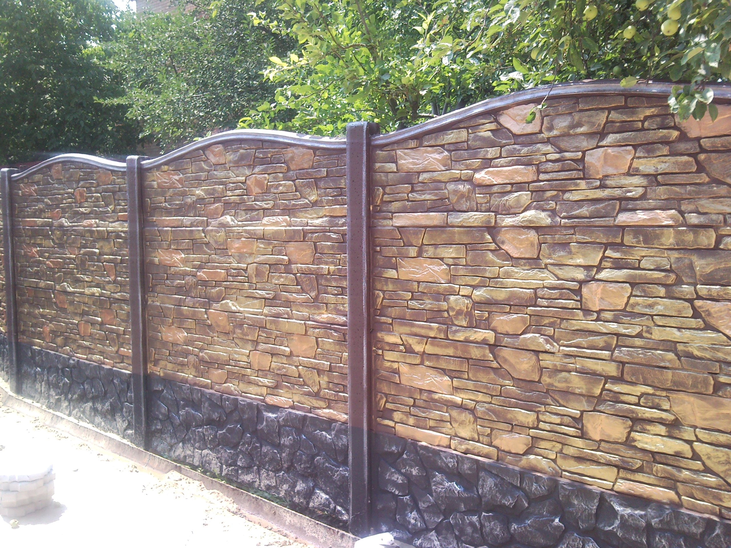 заборы и ворота из бетона